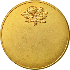 France, Medal, Art Déco, Femme Assise, Vernon, MS(63), Gilt Bronze