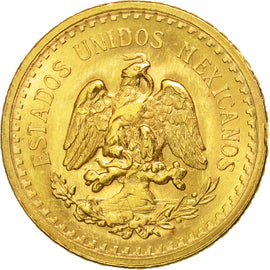 Coin, Mexico, 2-1/2 Pesos, 1945, Mexico City, AU(55-58), Gold, KM:463