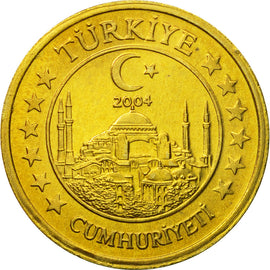 Turkey, Medal, Essai 10 cents, 2004, MS(63), Brass