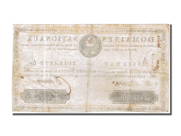 Banknote, France, 60 Livres, 1791, Domain, 1791-06-19, EF(40-45), KM:A44
