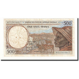 Banknote, Central African States, 500 Francs, 1993, Undated, KM:401La, VF(20-25)