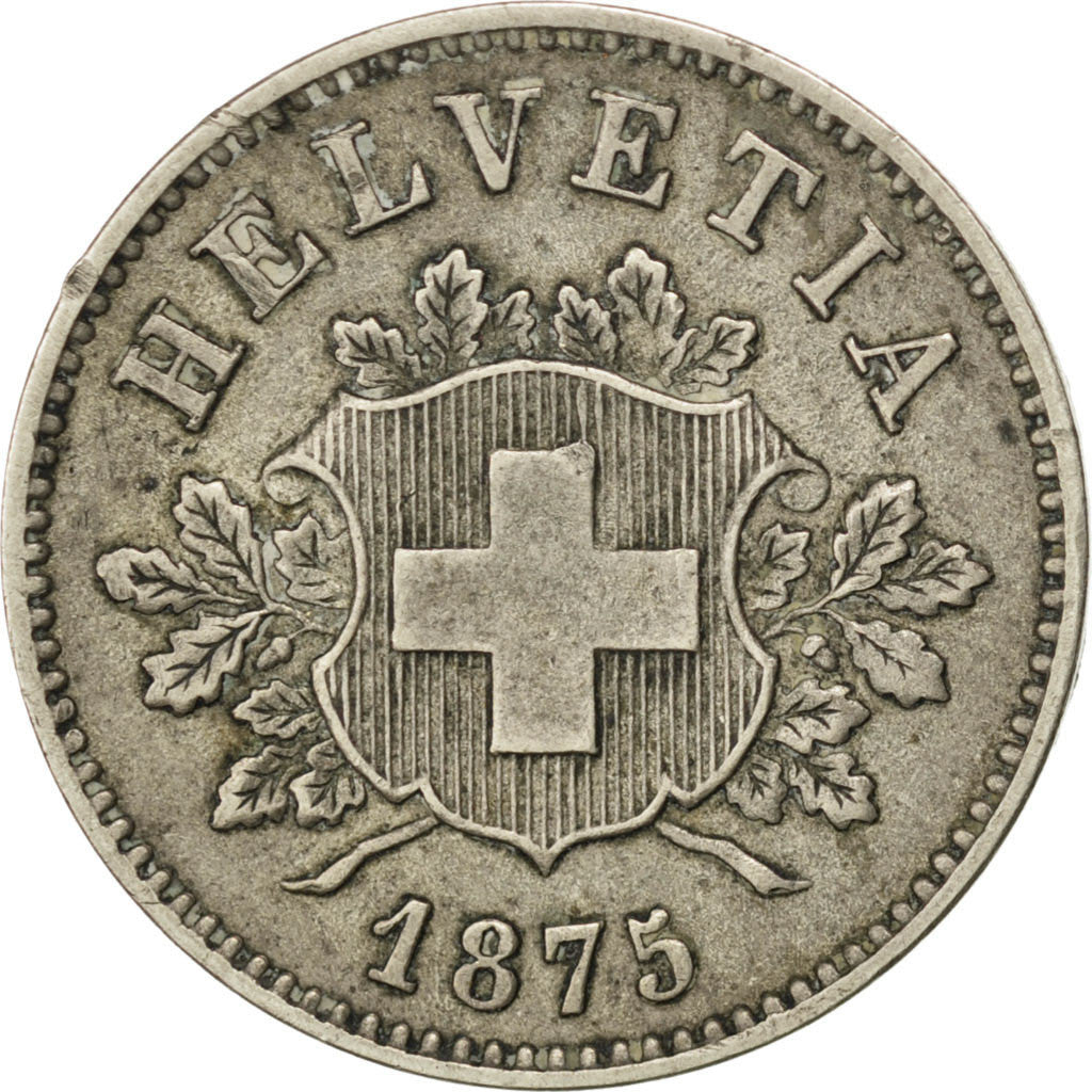 Coin, Switzerland, 10 Rappen, 1875, Bern, EF(40-45), Billon, KM:6
