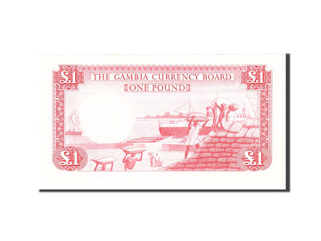Banknote, Gambia, 1 Pound, 1965, Undated, KM:2a, UNC(65-70)