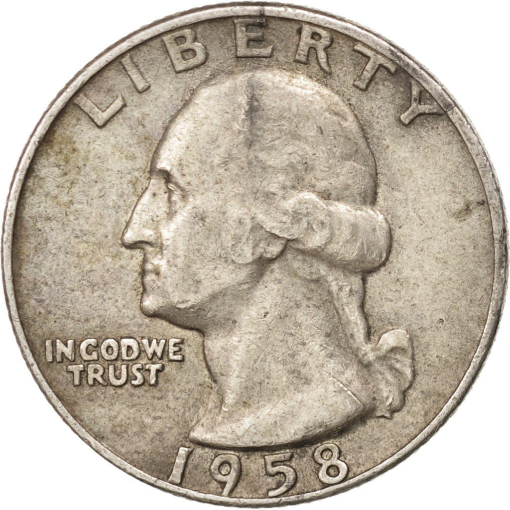 United States, Washington Quarter, 1958, Denver, KM:164, EF(40-45)