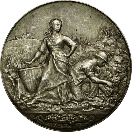 France, Token, Agriculture and Horticulture, AU(55-58), Silver