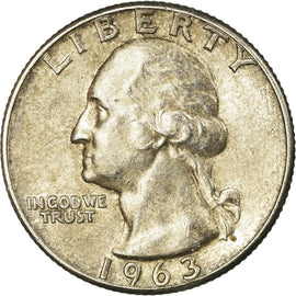 Coin, United States, Washington Quarter, Quarter, 1963, U.S. Mint, Philadelphia