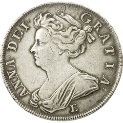 Great Britain, Anne, 1/2 Crown, 1707, Edinburgh, EF(40-45), Silver, KM:525.2