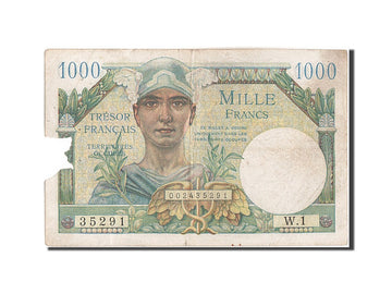Banknote, France, 1000 Francs, 1947 French Treasury, 1947, 1947-01-01, F(12-15)