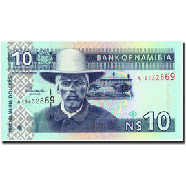 Banknote, Namibia, 10 Namibia dollars, 2001, 2001, KM:4a, UNC(65-70)