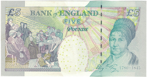 Banknote, Great Britain, 5 Pounds, 2004, 2004, KM:391c, AU(50-53)