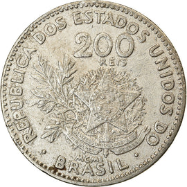 Coin, Brazil, 200 Reis, 1901, EF(40-45), Copper-nickel, KM:504