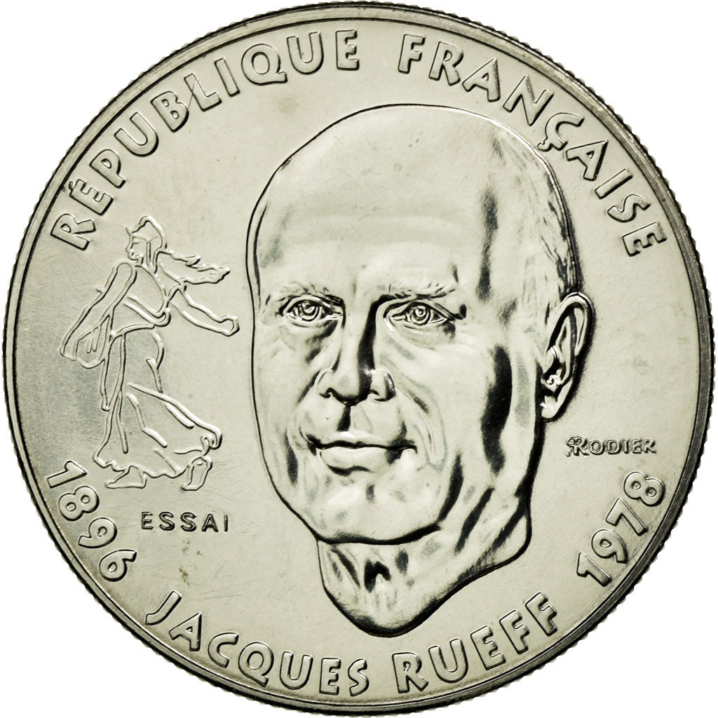 Coin, France, 1 Franc, 1996, MS(65-70), Nickel, Gadoury:481