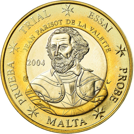 Malta, Euro, Essai-Trial, 2004, MS(64), Bi-Metallic