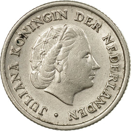 Coin, Netherlands, Juliana, 10 Cents, 1956, VF(30-35), Nickel, KM:182