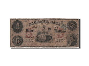 United States, 5 Dollars, 1854, VF(20-25)