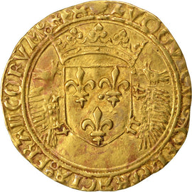 Coin, France, Ecu d'or, Dijon, AU(50-53), Gold, Duplessy:655