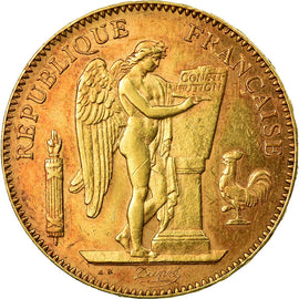 Coin, France, Génie, 50 Francs, 1896, Paris, Very rare, AU(50-53), Gold