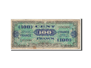 Banknote, France, 100 Francs, 1945 Verso France, 1944, VG(8-10), Fayette:25.6