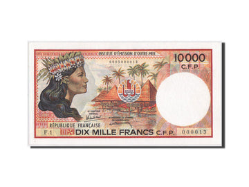 French Pacific Territories, 10,000 Francs, 1986, KM:4a, UNC