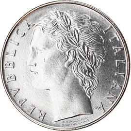 Coin, Italy, 100 Lire, 1982, Rome, MS(63), Stainless Steel, KM:96.1