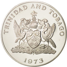 Coin, TRINIDAD & TOBAGO, 5 Dollars, 1973, Franklin Mint, MS(65-70), Silver, KM:8