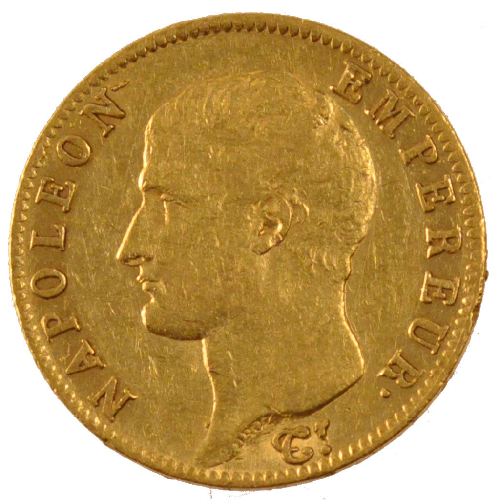 FRANCE, Napoléon I, 20 Francs, 1805, Paris, KM #663.1, AU(50-53), Gold, Gadoury