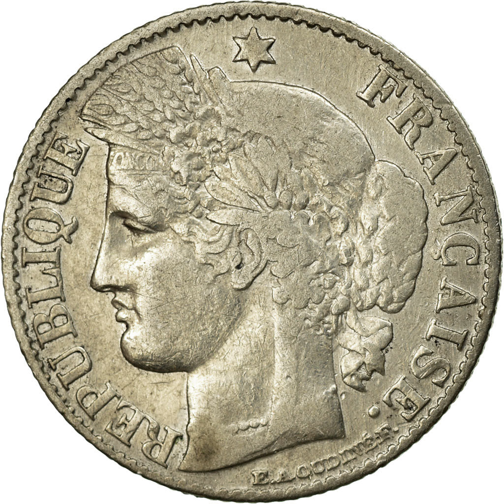 Coin, France, Cérès, 50 Centimes, 1872, Paris, VF(20-25), Silver, KM:834.1