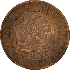 Coin, France, Napoleon III, Napoléon III, Centime, 1862, Paris, VF(30-35)