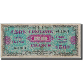Banknote, France, 50 Francs, 1945 Verso France, 1944, F(12-15), Fayette:VF 24.1