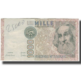 Banknote, Italy, 1000 Lire, KM:109a, G(4-6)