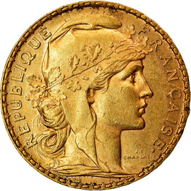 Coin, France, Marianne, 20 Francs, 1905, Paris, AU(50-53), Gold, KM:847