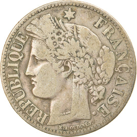 Coin, France, Cérès, 2 Francs, 1870, Paris, VF(30-35), Silver, KM:817.1