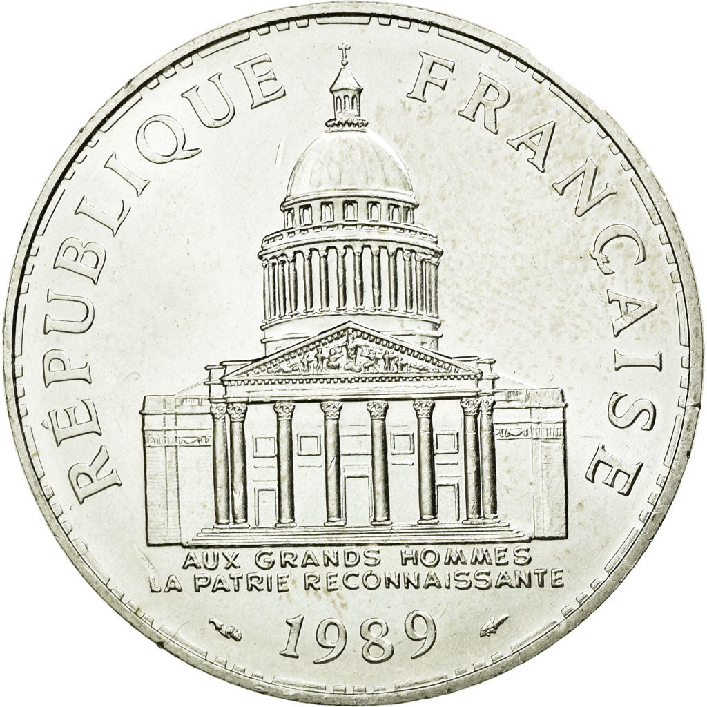 Coin, France, Panthéon, 100 Francs, 1989, Paris, MS(60-62), Silver, KM:951.1