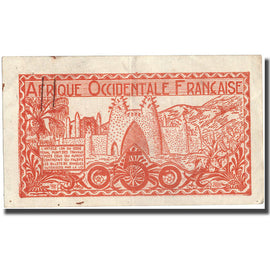 Banknote, French West Africa, 0.50 Franc, Undated (1944), KM:33a, VF(30-35)