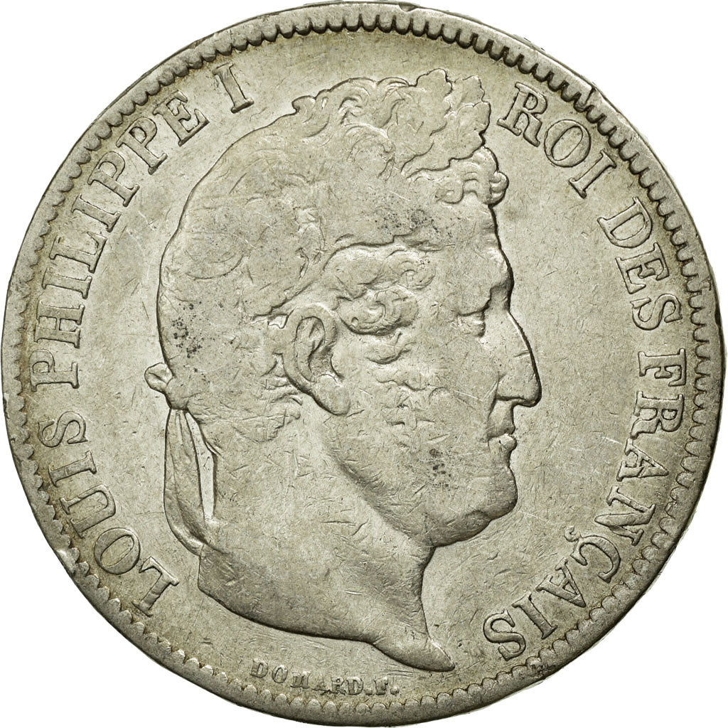 Coin, France, Louis-Philippe, 5 Francs, 1831, Nantes, VF(20-25), Silver