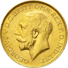 Coin, Australia, George V, Sovereign, 1918, Perth, AU(55-58), Gold, KM:29