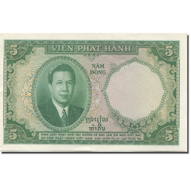 Banknote, FRENCH INDO-CHINA, 5 Piastres = 5 Dong, 1953, Undated (1953), KM:106
