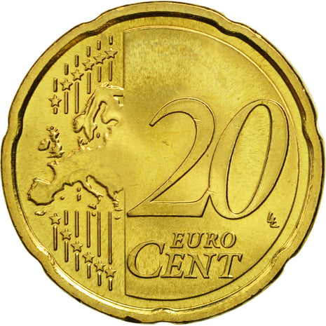 Lithuania, 20 Euro Cent, 2015, MS(63), Brass