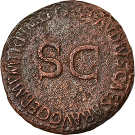 Coin, Germanicus, As, Roma, VF(30-35), Bronze, RIC:106