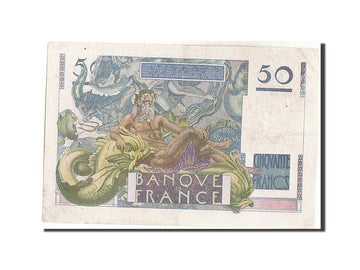 Banknote, France, 50 Francs, 50 F 1946-1951 ''Le Verrier'', 1946, 1946-03-14