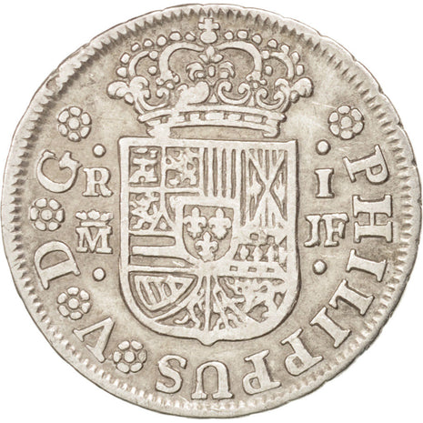 SPAIN, Real, 1742, Madrid, KM #298, EF(40-45), Silver, 2.86