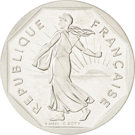 Coin, France, 2 Francs, 1981, MS(63), Nickel, KM:P703, Gadoury:123.P1