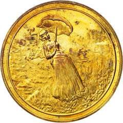 FRANCE, Arts & Culture, French Fifth Republic, Medal, AU(50-53), Vermeil, 31.90