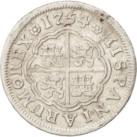 SPAIN, Real, 1754, Madrid, KM #369.1, EF(40-45), Silver, 3.00