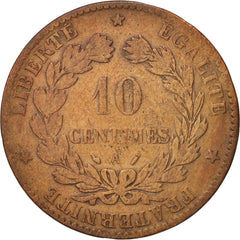 Coin, France, Cérès, 10 Centimes, 1888, Paris, VF(20-25), Bronze, KM:815.1