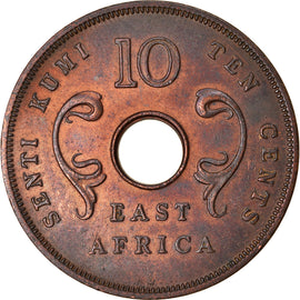 Coin, EAST AFRICA, 10 Cents, 1964, EF(40-45), Bronze, KM:40