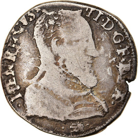 Coin, France, Henri II, Teston, 1559, La Rochelle, VF(20-25), Silver
