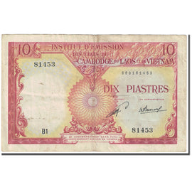 Banknote, FRENCH INDO-CHINA, 10 Piastres = 10 Kip, 1953, Undated (1953), KM:102