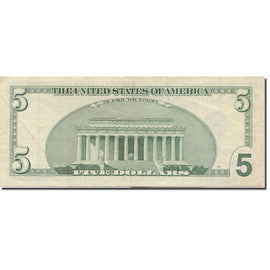 Banknote, United States, Five Dollars, 2003-2007, Undated (2003-07), KM:4861