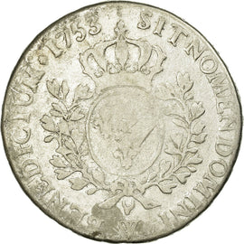 Coin, France, 1/2 ECU, 44 Sols, 1753, Lille, F(12-15), Silver, Gadoury:314